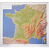 RELIEF DE LA FRANCE 1 1 160 000  92x102