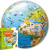 GLOBE GONFLABLE ANIMAUX 30CM