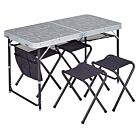 TABLE VALISE + 4 TABOURETS - TRIGANO