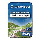 TOPO GLOBEXPLORER IGN 1/25000e PACK JURA/VOSGES - GLOBEXPLORER