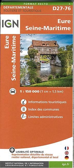 D27 76 EURE SEINE MARITIME ECHELLE 1 150 000