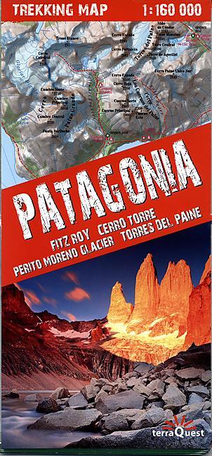 TREKKING MAP PATAGONIA 1 160 000