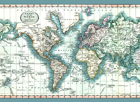CHART OF THE WORLD TAPIS 135X195