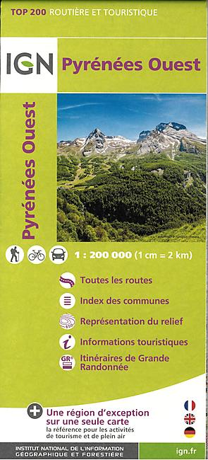 TOP 205 PYRENEES OUEST ECHELLE 1 200 000