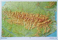RELIEF PYRENEES 1.375.000  (80X113)