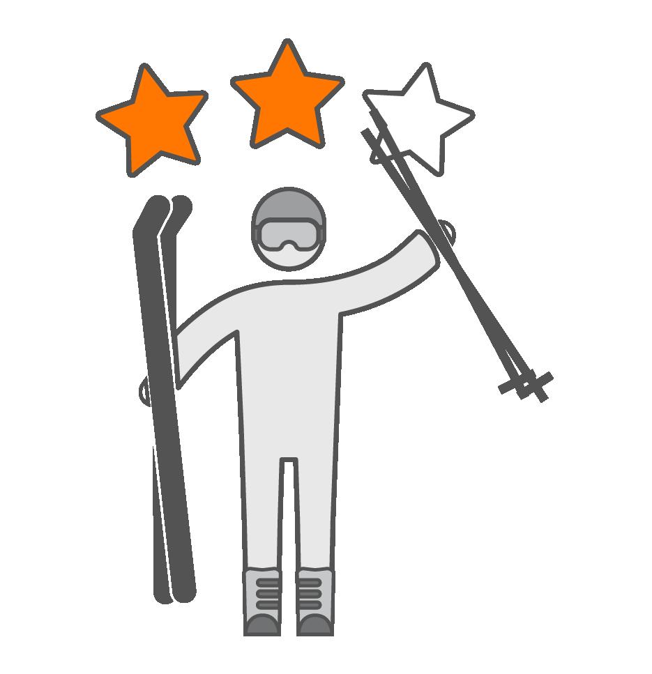 Matériel de ski niveau intermédiaire