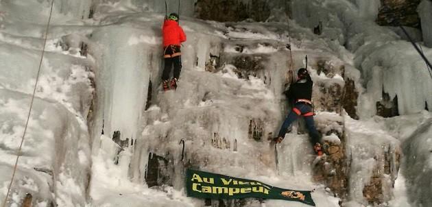 Sortie cascade de glace pour Au Vieux Campeur Grenoble