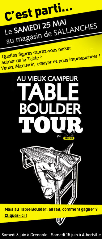 Salewa Table Boulder Tour