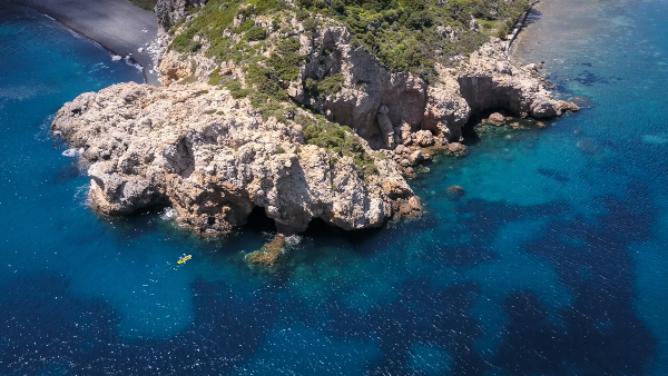 Kayak en Grèce